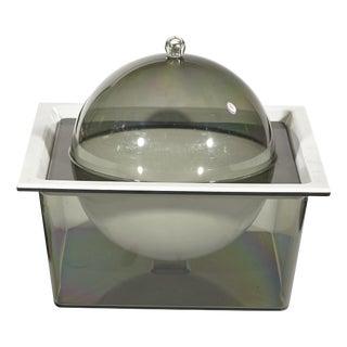 1970's Square Smoked Plastic Ice Bucket