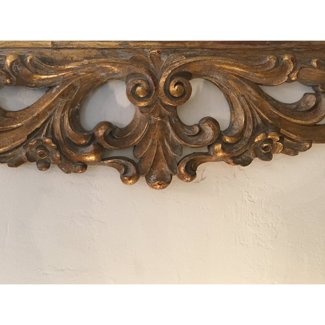 Image of Gilt Finish Carved Italian Mirror