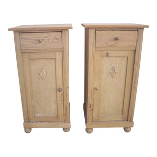 Swedish Pine Side Cabinets - A Pair