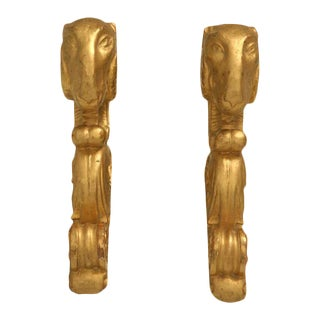 Italian Gilt Pole Brackets - A Pair