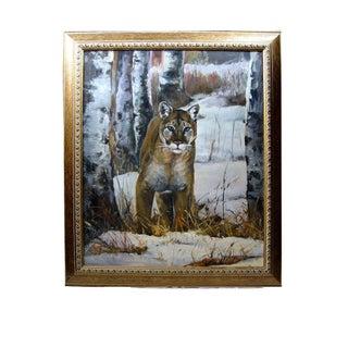 Brigitte Woosley Cougar Painting