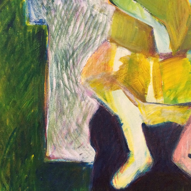 """1984 """"Girl in a Dress"""" Cubist Painting - Image 4 of 7"""