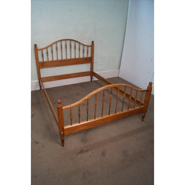 Ethan allen full size maple bed chairish - Ethan allen metal bed ...
