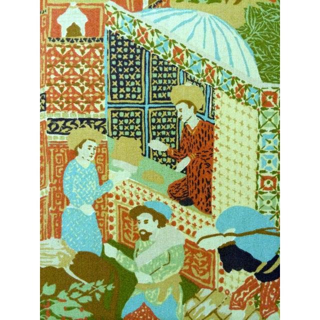Image of Large Vintage Fabric Room Divider
