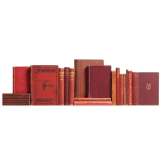 Burgundy Pocket-Sized Poetry Books - Set of 21
