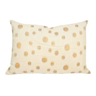 Throw Pillow Sham in Cream with Dots