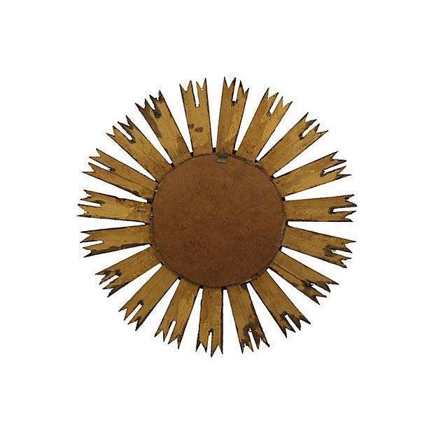Mid-Century French Sunburst Mirror - Image 2 of 2