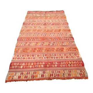 Vintage Turkish Kilim Rug - 5′4″ × 10′5″