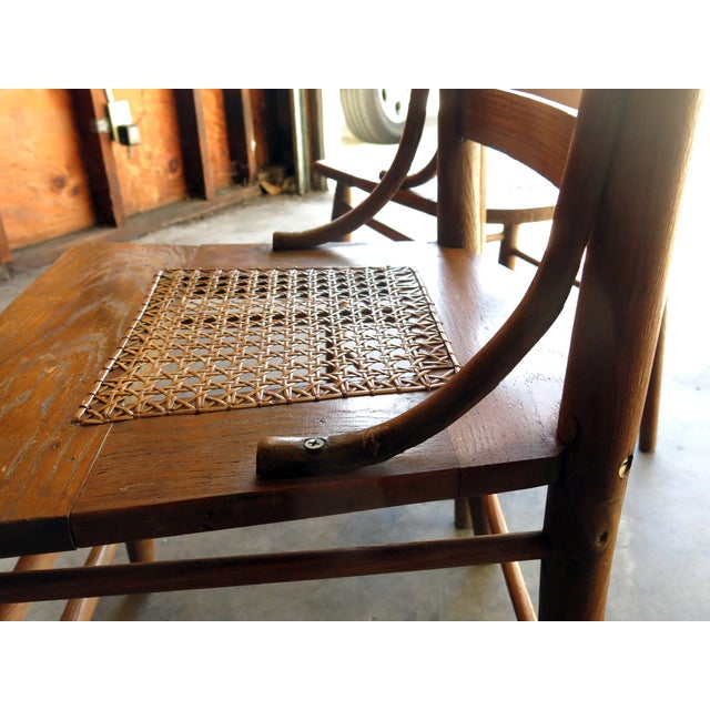 Caned Seat Antique Chairs - A Pair - Image 3 of 6