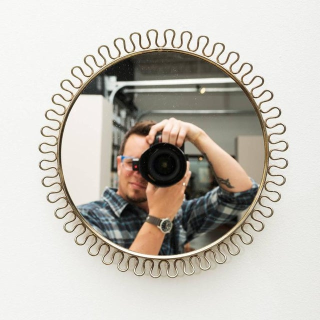 Sculptural Brass Loop Mirror by Josef Frank for Svenskt Tenn Sweden, 1950s - Image 4 of 5