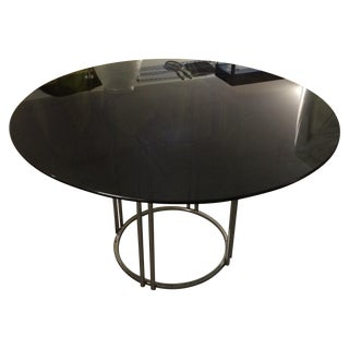 1970s Smoked Glass & Chrome Dining Table