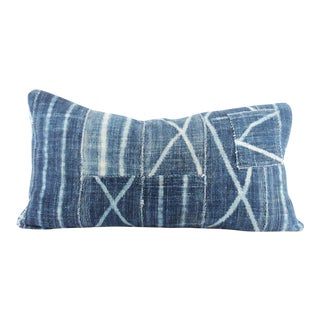 Indigo Patchwork Mudcloth Pillow