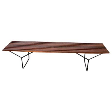 Modern Slat Bench - Image 1 of 7