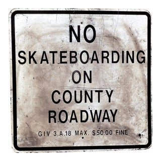 Vintage No Skateboarding Metal Sign