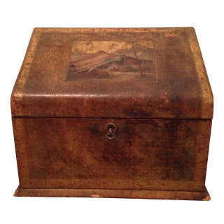 Italian Leather Stationery/Deed Box