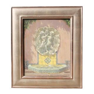 """Original Painting """"Dolphin Fountain Lotusland"""""""