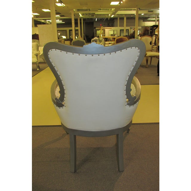 Image of Mid-Century Silver Armchair