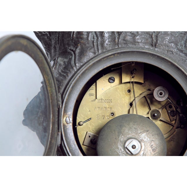 """French Empire """"Farnese Hercules"""" Mantel Clock attributed to Claude Galle - Image 9 of 11"""