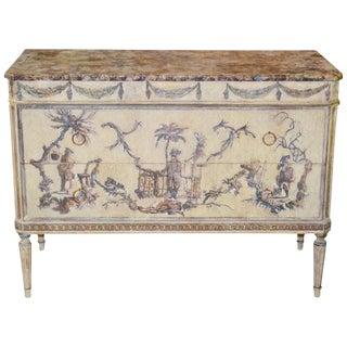 Italian Louis XVI Painted / Decoupage Commode