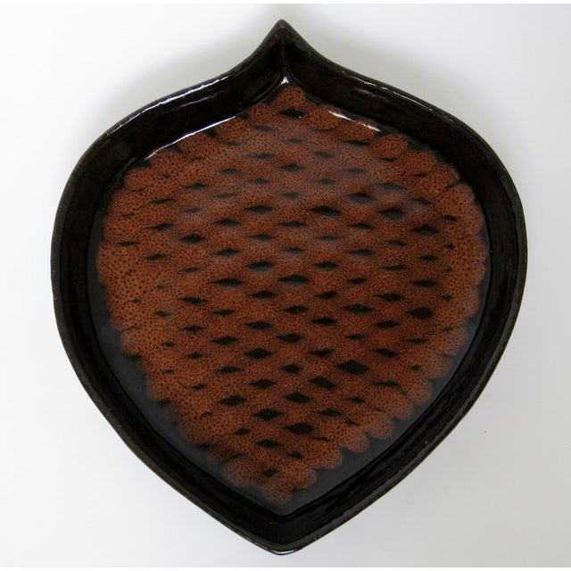 Pine Cone-Shaped Ceramic Dish - Image 2 of 8