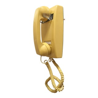 Vintage Yellow Wall Mount Telephone