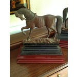 Image of Antique Cast Iron Horse Molds - a Pair