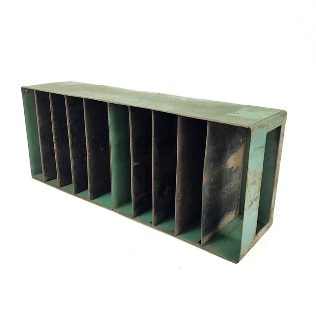 Vintage Industrial Slotted Shelf Organizer - Image 3 of 6