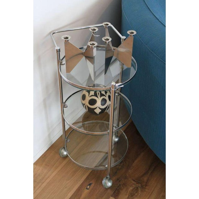 Chrome and Glass 1970s Bar Cart - Image 3 of 5