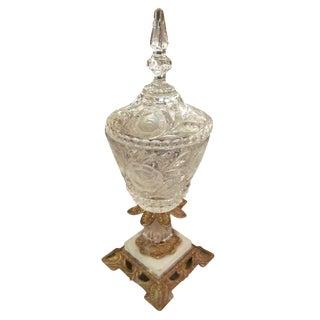 Crystal Vase with Ornate Base