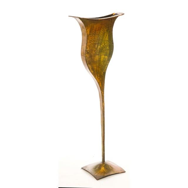 Metal Vases - Pair - Image 3 of 4
