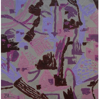 Abstract Purple and Lavender Painting by C. Plowden