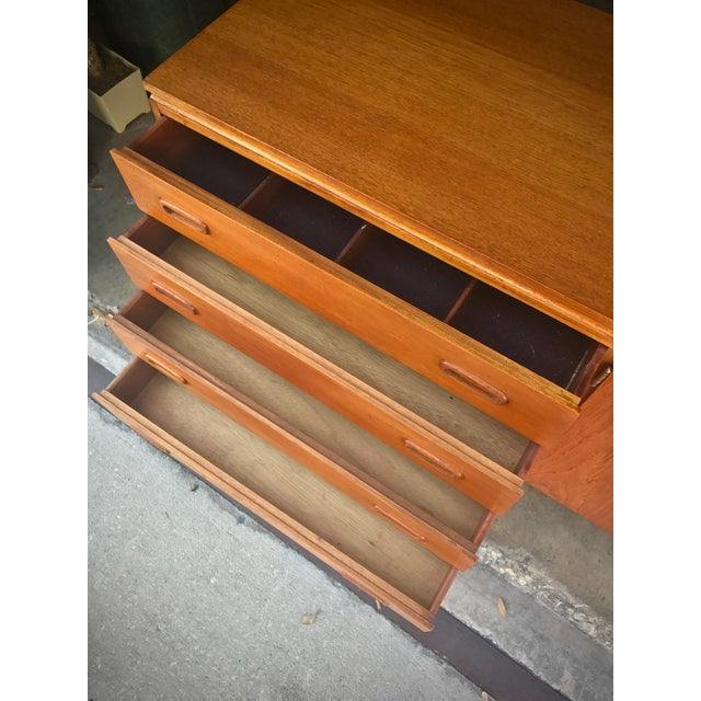 Image of Mid-Century Modern Solid Teak Sideboard