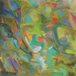 """Image of 36""""x36"""" Abstract Oil Painting by Trixie Pitts"""