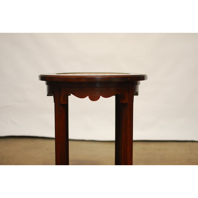 Image of Rosewood Marble Game Table