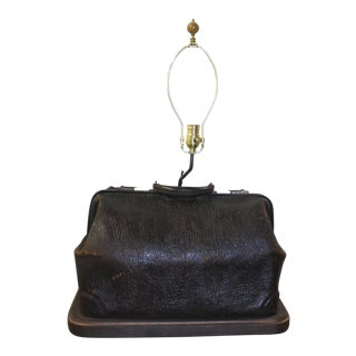 Physician's Bag Lamp Made of Walrus Hide