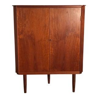 Mid Century Modern Corner Cabinet