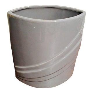 Mid-Century Modern Gray Vase