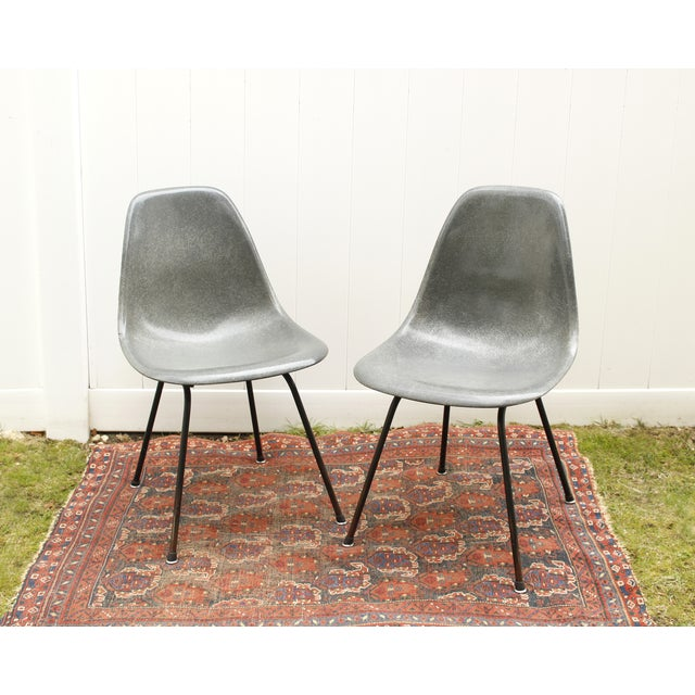 Gray Eames Fiberglass Shell Chairs - A Pair - Image 2 of 10
