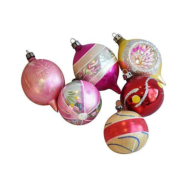 Mid Century Fancy Christmas Ornaments w/Box - Set of 12 - Image 3 of 7
