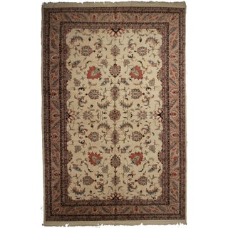 """Vintage Hand Knotted Wool Indian Rug - 12"""" X 18"""""""