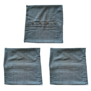 West Elm Silk Hand-Loomed Pillow Covers - Set of 3
