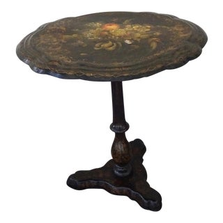 Victorian Papier-Mache Tilt-Top Table