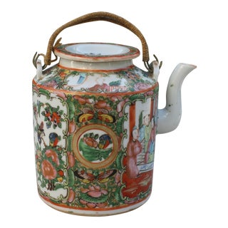 Chinese Export Rose Medallion Teapot - Famille Rose - Rose Canton - c. 1900