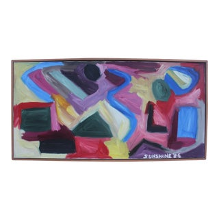 1986 Vintage Expressionist Painting