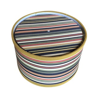 Striped Linen Drum Shade