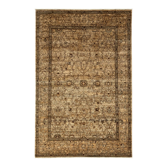 """Gabbeh Hand Knotted Area Rug - 6'7"""" X 9'9"""" - Image 1 of 3"""