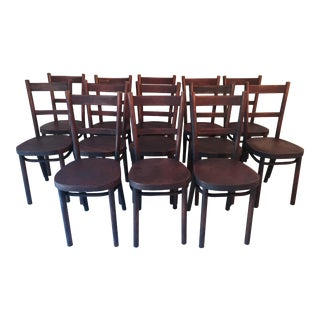 Thornet French Bistro Antique Chairs - Set of 13