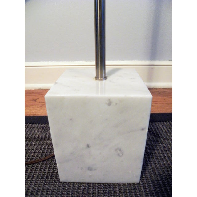 Image of Mid-Century Chrome & Marble Pencil Floor Lamp