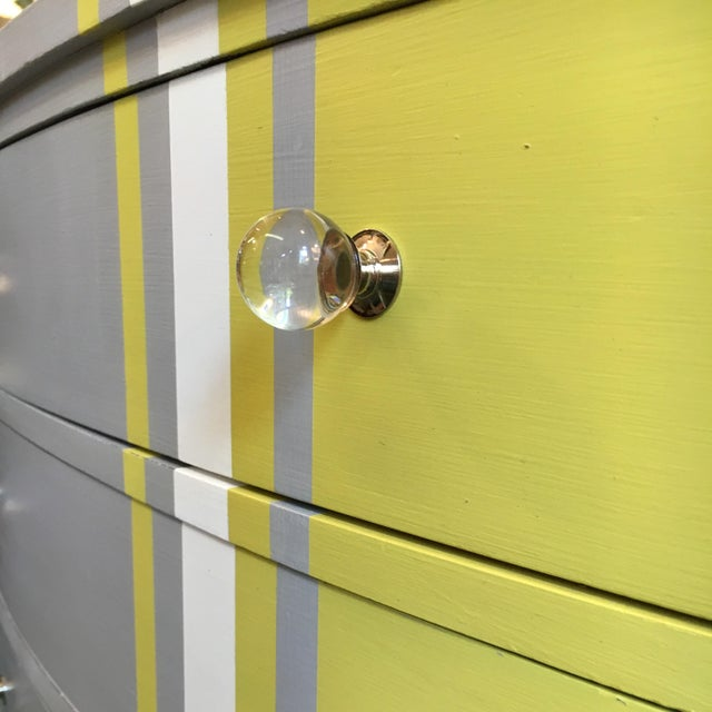 Grey & White Striped Chest of Drawers - Image 4 of 6