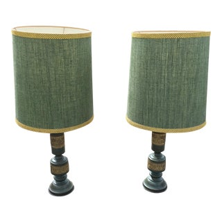 Mid-Century James Mont Style Table Lamps - A Pair